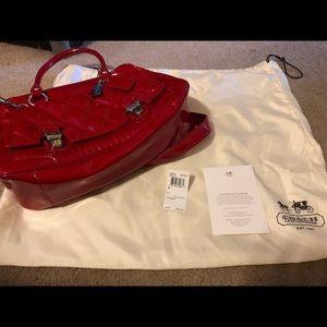 Coach Red Patent Satchel Bag